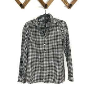JCREW quarter button down gingham shirt